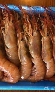 コストコの天然赤海老でガーリック焼き 正月のおせちの1品にも