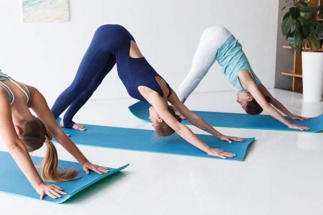 yogaダウンドッグのポーズ