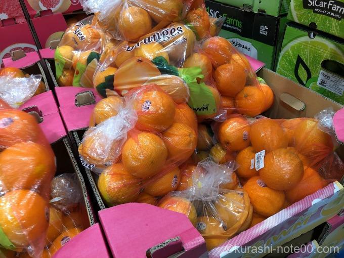 コストコのバレンシアオレンジ