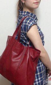 """Baginningバッグ 通勤バッグに""""赤""""って素敵!華やかな差し色を味方に"""