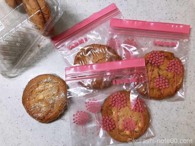 個別包装したクッキー