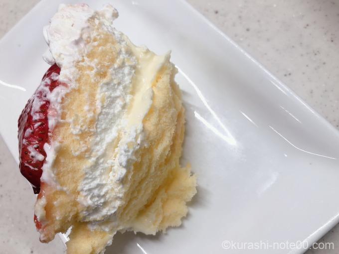皿に盛ったケーキ