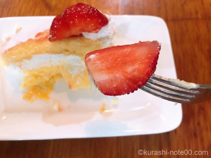 ストロベリースコップケーキのイチゴ