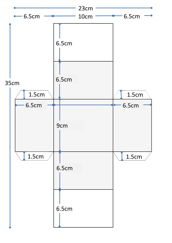 仕切り板製図