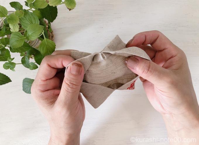 袋縫いの仕上がり