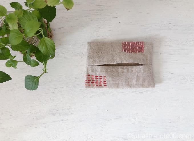 手縫いのテッシュケース