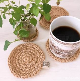 麻ひもで編む円のコースター|これをみれば編み図を見ずに編める
