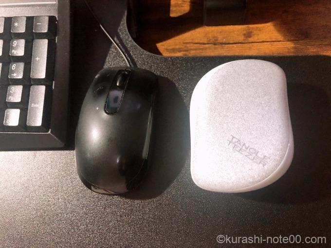 マウスと並べてみたところ
