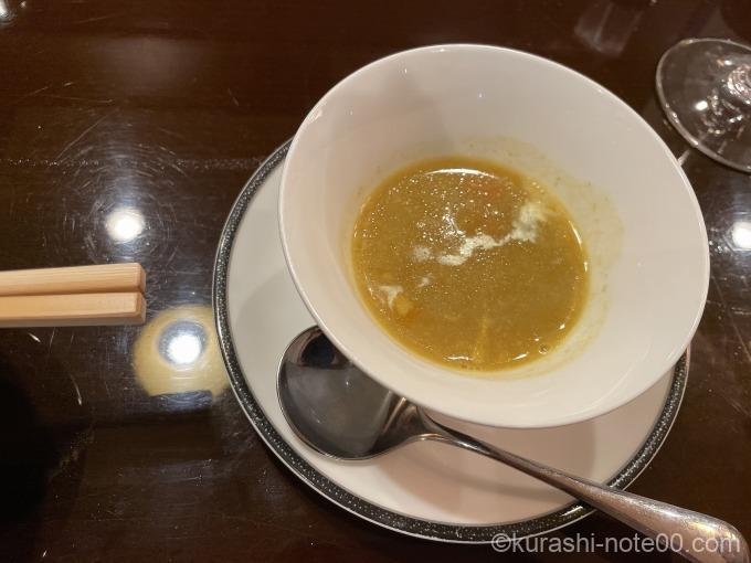 カレー風味のポタージュスープ