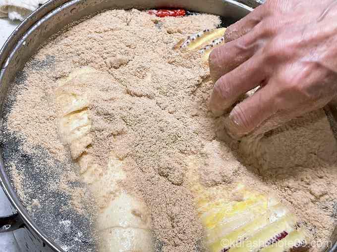 米ぬかを入れる