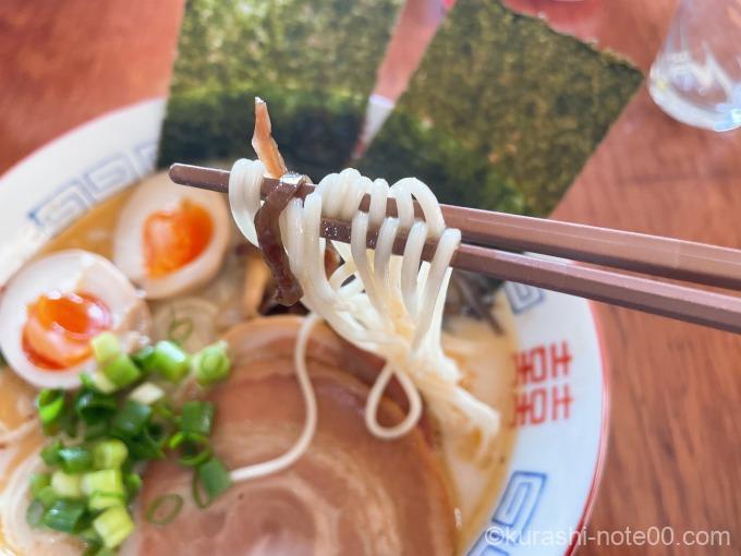 味千拉麵の麺