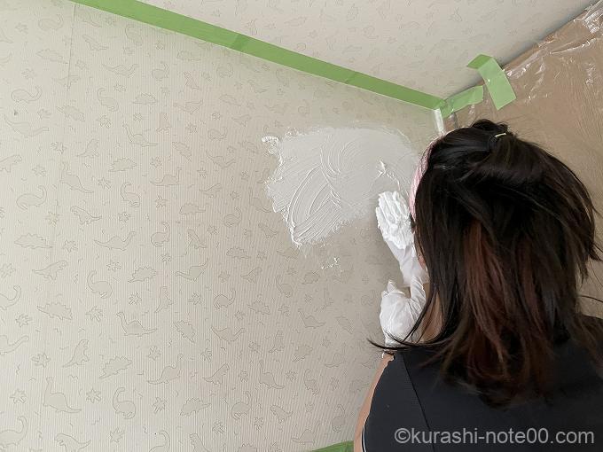 手で塗るモルモルを塗る