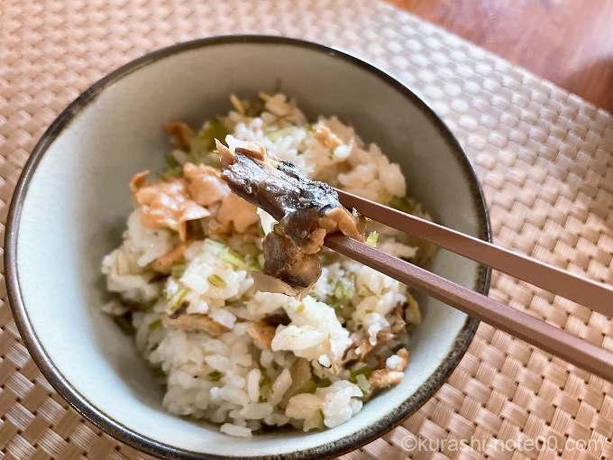 三陸漁師めしを箸で取ってみたところ