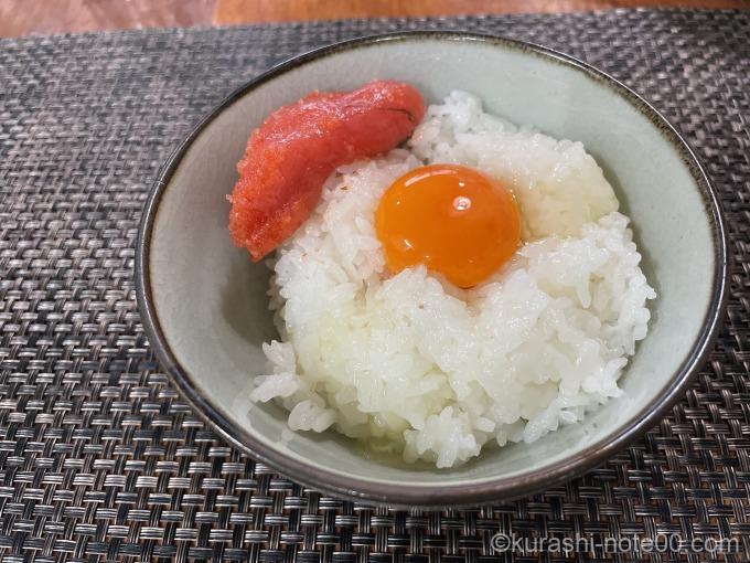 明太子の卵かけご飯