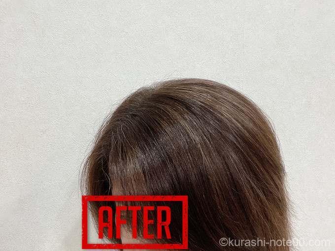 オーガニクエを使用した髪